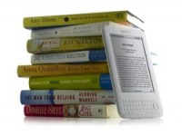 Kindle with books - white