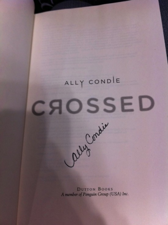 Crossed signed copy