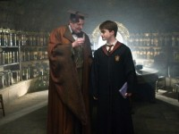 Harry Potter and Professor Slughorn with felix felicis
